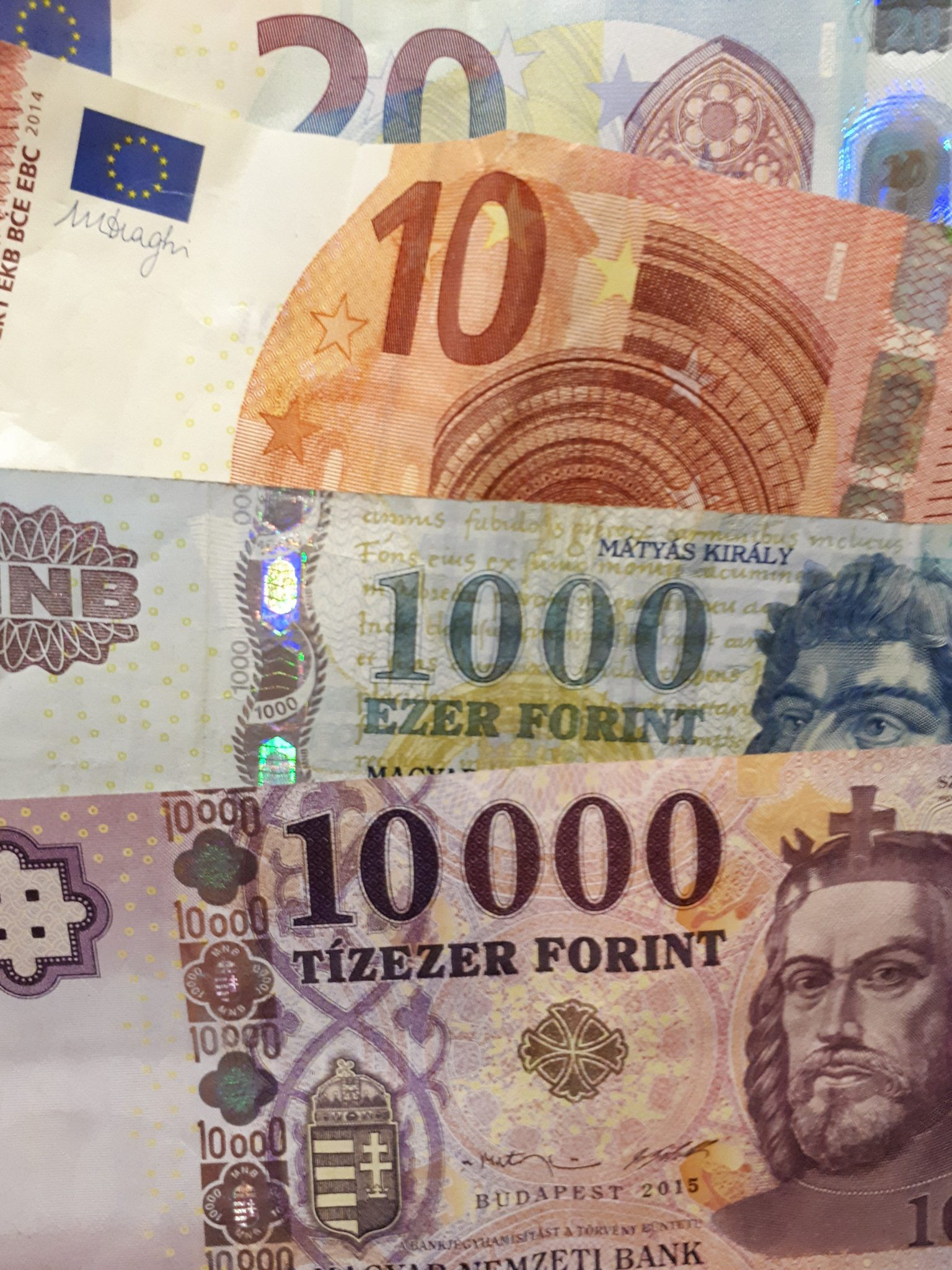 Hungary Uses The Forint Bottom Two Bills And Not Euro Top For Pretty Much Everything Don T Expect To Be Able Use Euros In Budapest