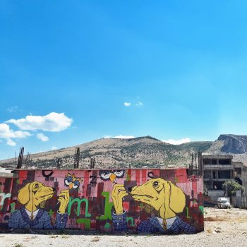 Urban art in Mostar.